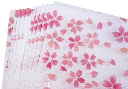 越前和紙 ランチョンマット 春柄/桜の舞